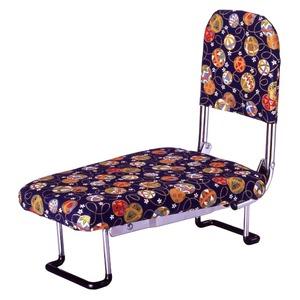 背もたれ付きらく座いす(正座椅子) 手まり柄