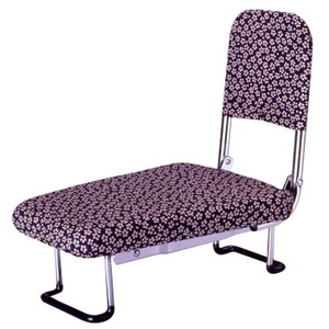 背もたれ付きらく座いす(正座椅子) 小花柄
