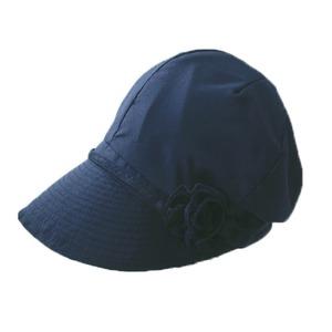 風と太陽に負けない 小顔美人帽 ブラック