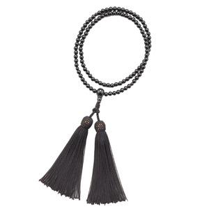 人気の天然石を使った二輪の念珠 天然石 二輪(ふたわ)念珠 黒(オニキス)