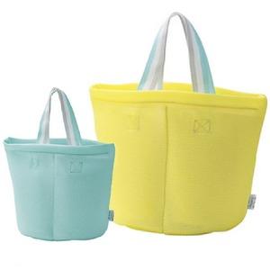 仕切り付洗濯バッグ【2色組】イエロー・ブルー
