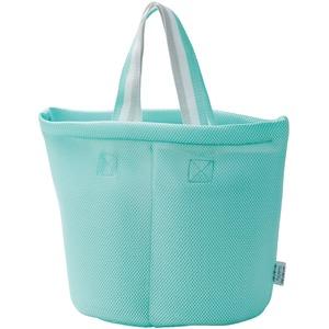 仕切り付洗濯バッグ ブルー