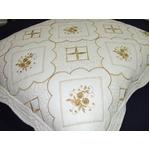 刺繍(ししゅう)キルト クッション カバー 45X45cm【正方形】