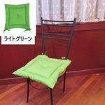 薄型シートクッション/座布団 【ライトグリーン】 紐付き 洗える 日本製 『オックス』