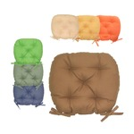 バテイ型 シートクッション/座布団 【モスグリーン】 厚み6cm 紐付き 洗える 日本製