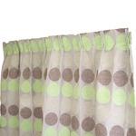 幅100×丈135cm(2枚入り)シュニール カーテン 水玉 日本製 グリーン