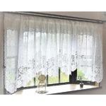 幅150x丈85cm 出窓用レースカーテン カフェカーテン 日本製