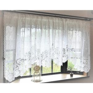 幅300x丈105cm 出窓用レースカーテン カフェカーテン 日本製