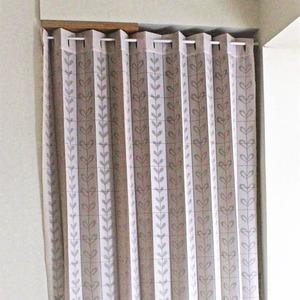 幅150×丈250cm パタパタ 間仕切りカーテン 日本製 アイボリー