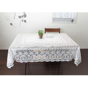 長方形 140cmx180cm 撥水加工レーステーブルクロス 日本製