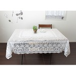 長方形 140cmx220cm 撥水加工レーステーブルクロス 日本製