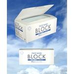 3層サージカルマスク「BLOCK」50枚入り5箱 レギュラーサイズ カラー:ホワイト(三層不織布)