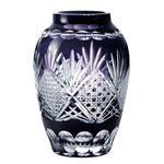 1154-74-7 江戸切子 菱重ね 71カットつぼ型花瓶