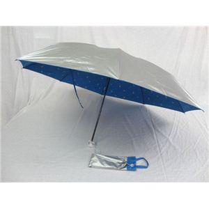 UVION シルバーコーティング DOG 60cmミニ折傘 ブルー 3841
