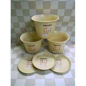 土に還る植木鉢・皿 3PC(大) 335071