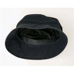 パチパチしにくいあったか帽子 ブラック