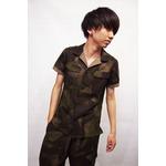 VADEL combat shirts SS KHAKI×BEIGE サイズ44
