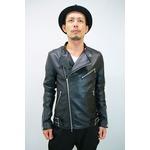 SHELLAC ダブルライダースジャケット BLACK サイズ46