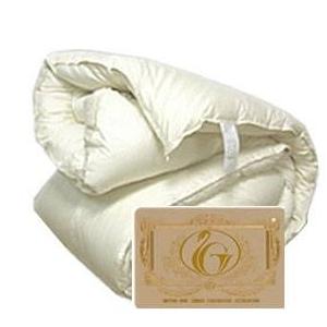 フランス産ホワイトダウン93% 羽毛布団 クィーン
