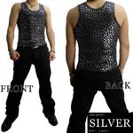 Luxury Black(ラグジュアリーブラック) スターUネックタンクトップ SLV(シルバー) Sサイズ