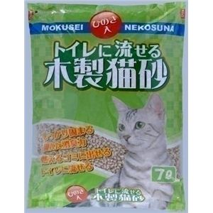 常陸化工 トイレに流せる木製猫砂 7L (猫砂) 【ペット用品】