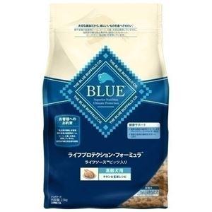 (まとめ)ブルーバッファロー 高齢犬用 チキン&玄米 900g【×6セット】【ペット用品・犬用フード】