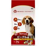 (まとめ)ウェルケア ビーグル専用 オールステージ 3kg【×4セット】【ペット用品・犬用フード】