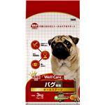 (まとめ)ウェルケア パグ専用 オールステージ 3kg【×4セット】【ペット用品・犬用フード】