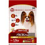 (まとめ)ウェルケア パピヨン専用 オールステージ 1.5kg【×4セット】【ペット用品・犬用フード】