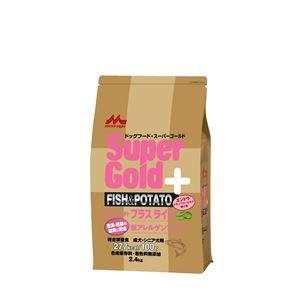 (まとめ)スーパーゴールド フィッシュ&ポテト プラスライト 肥満・関節の健康に配慮 2.4kg【×4セット】【ペット用品・ペット用フード】