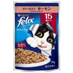 (まとめ)フィリックス やわらかグリル 15歳以上用 ゼリー仕立てサーモン70g【×60セット】【猫用フード/ペット用品】