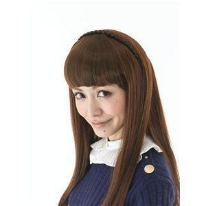 カチューシャ前髪 KT-3 ブラウン(耐熱)