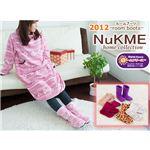NuKME(ヌックミィ) 2012年Ver ルームシューズ Mサイズ アースカラー アクアブルー
