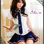コスプレ 2011新作 女子高生 ミニスカ セーラー服 コスチューム3点セット