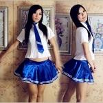 コスプレ 女子高生ミニスカ制服 コスチューム