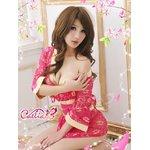 超セクシー☆花柄レース着物セット/ピンク/花魁/和服/コスプレ/コスチューム/衣装/c24