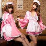メイド メイド服  和風 着物 ロリィタ  ウェイトレス コスプレ コスチューム 衣装 z1366