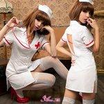 セクシーナースさんコスプレセット/ホワイト/ナース/看護婦/コスプレ/コスチューム/衣装/z1428