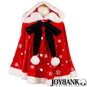 KIDS☆子どもサイズ☆雪の結晶ケープマント100cm