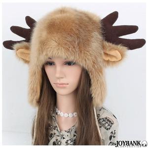 トナカイのツノと耳付きもこもこ帽子 CA086