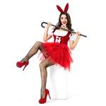 3set セクシー ウサギ/レッド【バニーガール/ステージ/ハロウィン/クリスマス/イベント/パーティ/コスプレ/コスチューム/舞台/仮装/衣装】