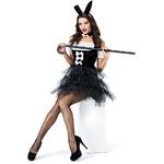 3set セクシー ウサギ/ブラック【バニーガール/ステージ/ハロウィン/クリスマス/イベント/パーティ/コスプレ/コスチューム/舞台/仮装/衣装】