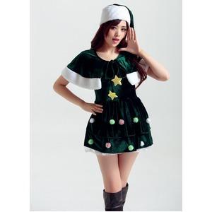 9708【緑/クリスマス/サンタクロース/コスプレ/コスチューム/イベント/パーティ/仮装/衣装】