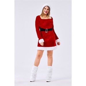 大きいサイズ クリスマス サンタJ029LL レッド【クリスマス/サンタクロース/コスプレ/コスチューム/イベント/パーティ/仮装/衣装】
