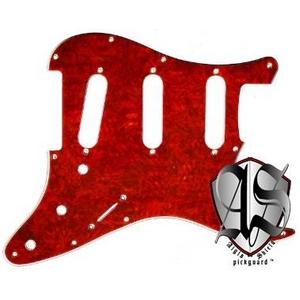 GP Factory(GPファクトリー) ストラトキャスター用ノイズ低減ピックガード 72年式11穴タイプ レッドトートイズ(赤鼈甲)4プライ