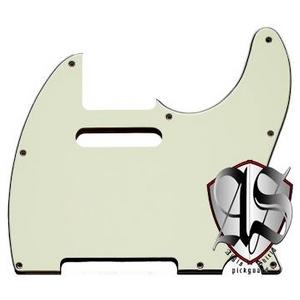 GP Factory(GPファクトリー) テレキャスター用ノイズ低減ピックガード 62年式8穴タイプ ミントグリーン3P