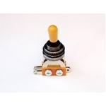 GP Factory(GPファクトリー) トグルスイッチ縦型 ブラック アンバーボタン (エレキギターパーツ)