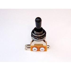 GP Factory(GPファクトリー) トグルスイッチ縦型 ブラック ブラックボタン (エレキギターパーツ)