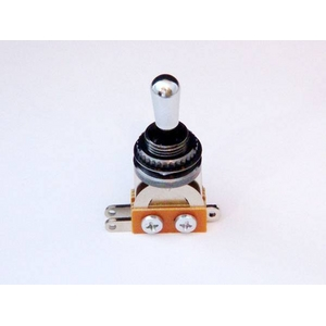 GP Factory(GPファクトリー) トグルスイッチ縦型 ブラック クロームボタン (エレキギターパーツ)