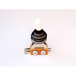 GP Factory(GPファクトリー) トグルスイッチ縦型 ブラック アイボリーボタン (エレキギターパーツ)